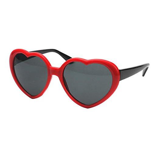 OULII Oversized Retro Heart Shaped Frame Glasses Party Eye Wear Sunglasses Wedding Valentine's Day Decoration - Sunglasses Valentines