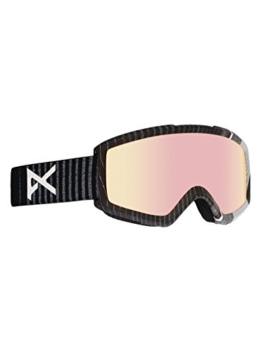 Anon Helix 2.0 Asian Fit Stryper Snowboard Goggle, Black, One Size - Anon Helix Goggles