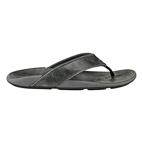 OLUKAI Men's NUI Sandal, Lava Rock/Lava Rock, 12 M ()