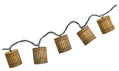 Bamboo Patio Lights String in US - 3