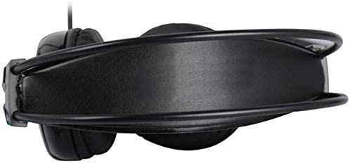 HNSYDS 2色で利用できるヘッドセットユニセックスデュアルオーディオ音質調整有線ゲーミングヘッドセットヘッドセット ゲーミングヘッドセット (Color : Black)