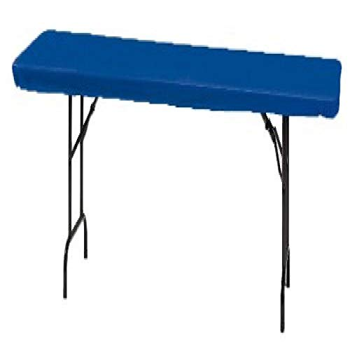 (Creative Converting 37342 Royal Blue Plastic Tablecover Stay Put 30 X 96 Solid (12pks)