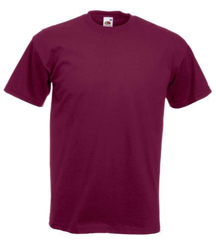 Fruit of the Loom Super Premium T-Shirt Burgund XL XL,Burgund