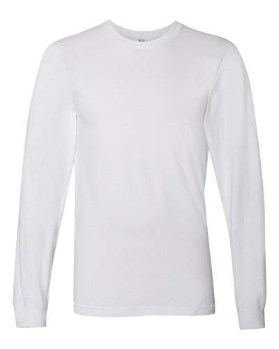 Unisex Fine Jersey - American Apparel 2007W Unisex Fine Jersey Long-Sleeve T-Shirt White L