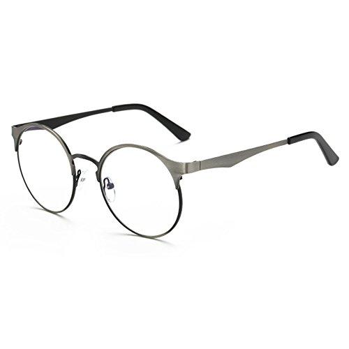 dbbaefc63b 80% OFF Hombres Mujeres Gafas redondas de metal - Marco de anteojos de luz  transparente