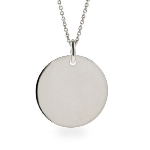 Amythyst Silver Tone Stainless Steel Engravable Round Disc / Circle