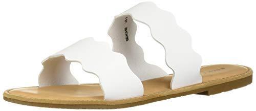Rock & Candy Women's BEACHIE Flat Sandal White 7 Medium US ()