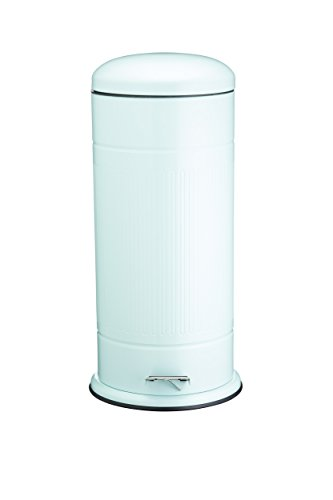 Kitchen Craft Living Nostalgia Pedal Bin, 30 litres (6.5 gal) - Vintage Blue 30l Retro Pedal Bin