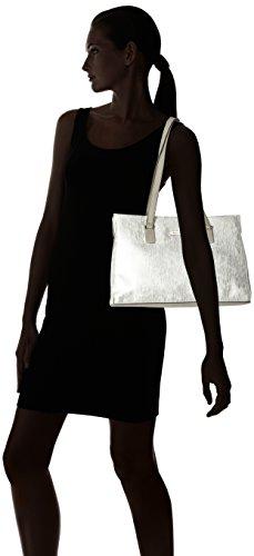 Mujer Plateado Comb Tamaris de Shoulderbag y Silver Shoppers hombro bolsos Nadine 0aSqZf