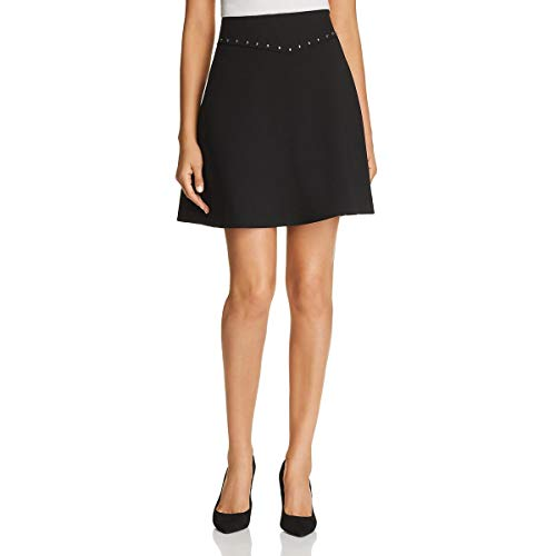 Kate Spade Womens Crepe Studded Mini Skirt Black 10