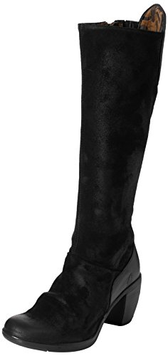 Fly London Womens Hean127fly Fashion Laars Black Oil Suede / Rug