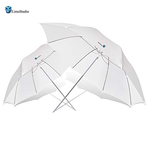 LimoStudio 2X 33 Studio Lighting Umbrellas Translucent White Soft Umbrella, AGG124-A