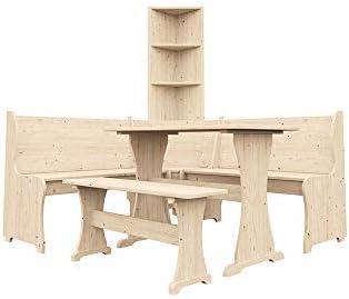 Juego de muebles esquineros de madera de Dunster House®, mesa ...