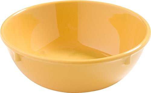 (Carlisle 4386222 Dayton Melamine Nappie Bowl, 10 Oz., Honey Yellow (Set of 48) )