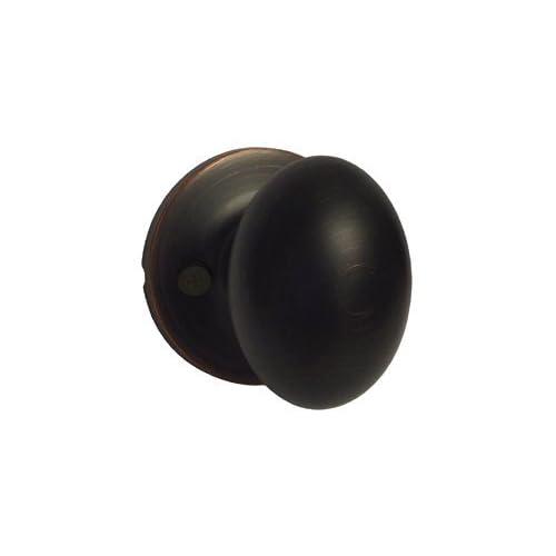 Dark Oil Rubbed Bronze Dummy Single Door Oval Egg Style Knob Handle 6093DBR