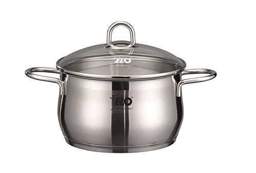(ELO Platin Stainless Steel Kitchen Induction Casserole Pot 1.5 Quart)