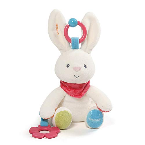 Baby GUND Flora The Bunny Plush Activity Toy 8.5