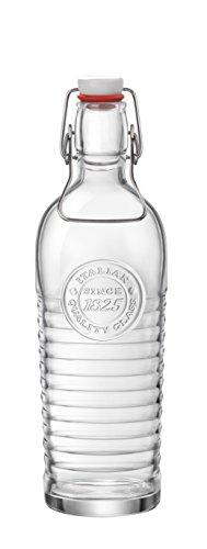 Bormioli Rocco Officina Bottle, 40.5 oz, Clear
