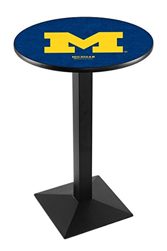 Holland Bar Stool L217B University of Michigan Officially Licensed Pub Table, 28