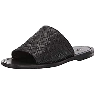 FRYE Women's Robin Woven Slide Flat Sandal black 8.5 M US