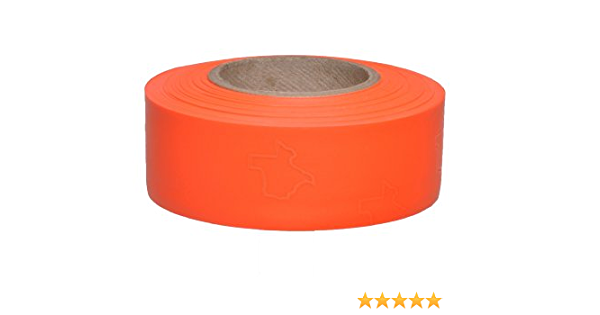 4 Height Presco TXO 1-3//16 x 300 Orange PVC Texas Flagging Tape 4 Length 1.18 Wide