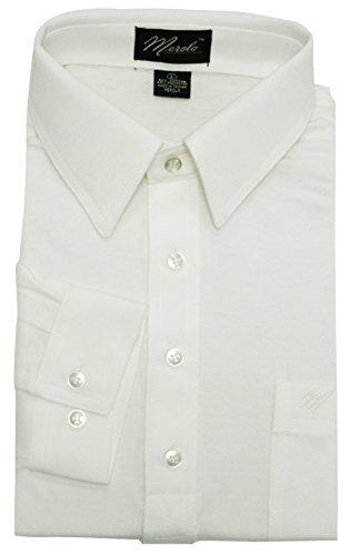 Merola Long Sleeve Pocket Polo Shirt (MEDIUM, (Embroidered Banded Bottom Shirt)