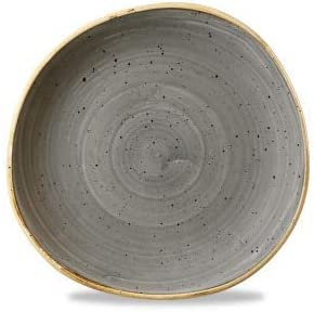 handgefertig Organic Round Plate Barley White Churchill Stonecast Farbe w/ählbar 21,0cm