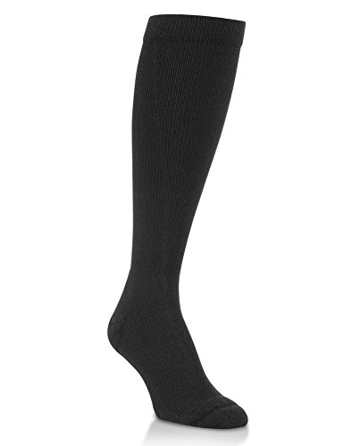 Worlds Softest Mens Support Fit Over the Calf Socks 1-Pair, L, Black