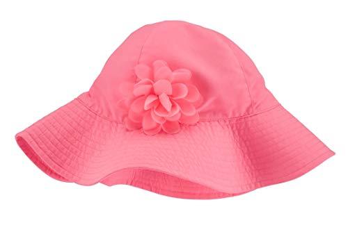 Carter's Girls Crochet Wide Brim Sun Hat (Pink Rosette, 2-4T) ()