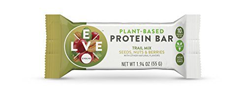 Evolve Plant-Based Protein Bars, Trail Mix, 10g Protein, 1.94 Oz 12 Count