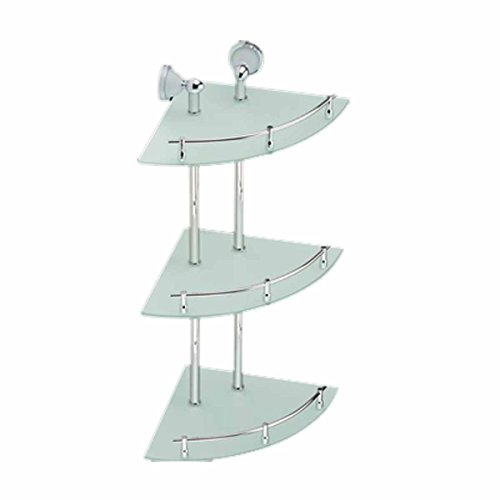 Cheap Corner Glass Shelf Triple Tiers Frosted Wall Storage Holder | Renovator's Supply