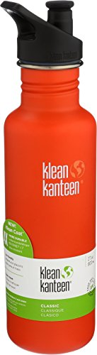 32bd6622e9 Klean Kanteen 27oz Classic Stainless Steel Water Bottle with Klean Coat,  Single Wall and Leak
