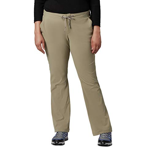 Columbia Women's Anytime Outdoor Boot Cut Pant, Tusk, 12Regular from Columbia