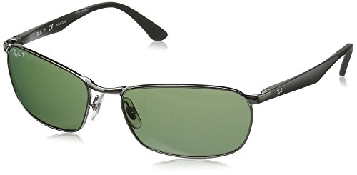 Sonnenbrille Gunmetal Gris RB Polarized Green Lenses Ray 3534 Ban znI454gX