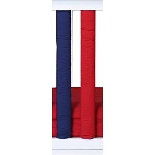 (Pure Safety Vertical Crib Liners 2 Pack in Red/Navy Blue)