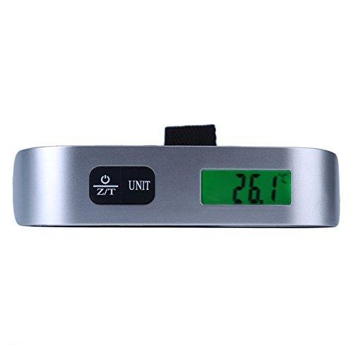 /50/kg f/ür Reisen leshp Gep/äck Ma/ßstab tragbare Digital-Gep/äckwaage LCD 10/g/ Home Verwendung mit Akku enthalten Outdoor Silber Tasche Koffer