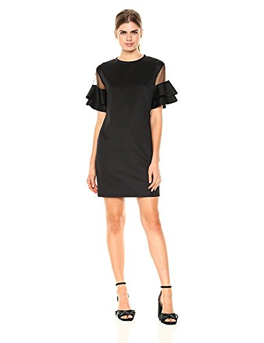 Wild Meadow Women's Ruffle Sleeve Scuba Mini