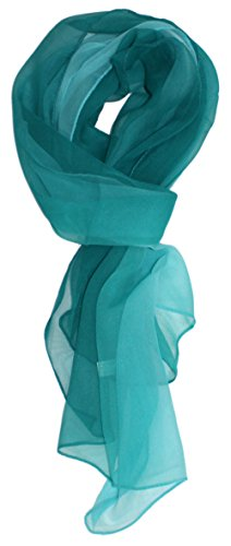 Ted and Jack - Silk Ombre Lightweight Accent Scarf in Teals