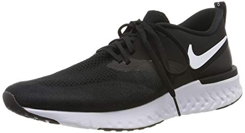 Nike Odyssey React 2 Flyknit Mens Running Trainers AH1015 Sneakers Shoes (UK 8.5 US 9.5 EU 43, Black White 010)