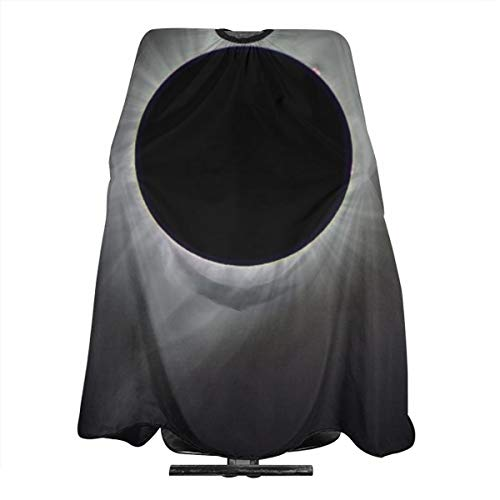 Professional Barber Cape Solar Eclipse Pattern Salon Haircut Aprons Hair Styling Gown For Coloring Perming Hair Cutting Treatment Shampoo Chemical Proof Hairdresser 55