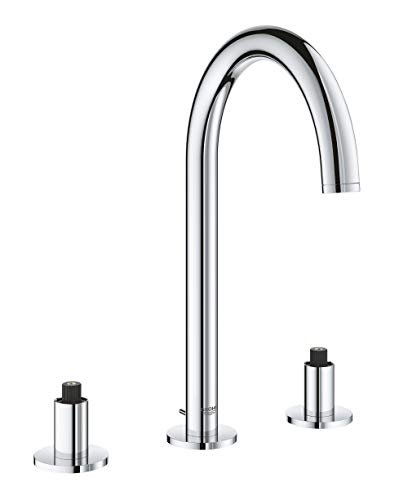 (GROHE 20069003 Atrio 8″ Widespread Two-Handle Bathroom Faucet M-Size, Starlight Chrome)