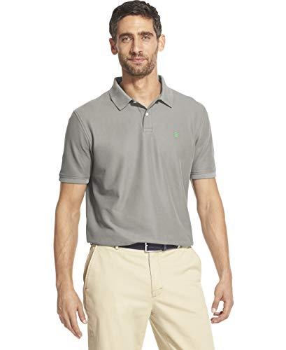 - IZOD Men's Slim Fit Advantage Performance Solid Polo Shirt, Light Grey Heather Small