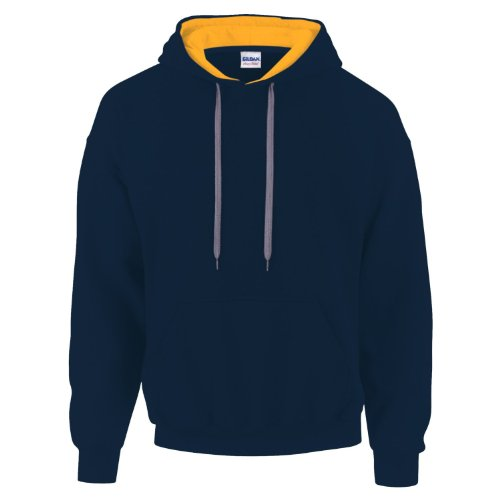 Capuche Navy Gildan Sweat gold 185c00 À Multicolore 4AAp8xw