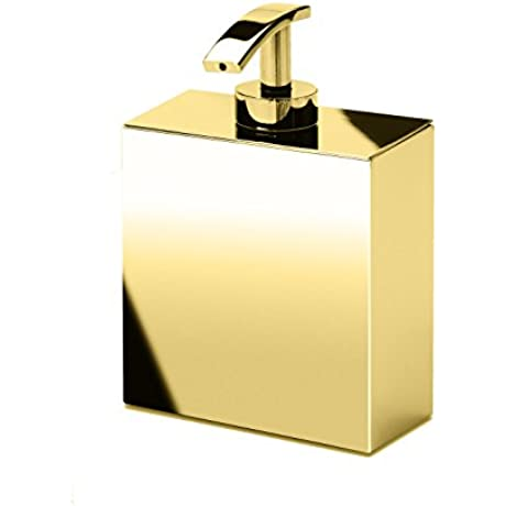 BoxMetal Pump Liquid Soap Lotion Dispenser For Bathroom Kitchen Brass Polished Gold Wall Mounted