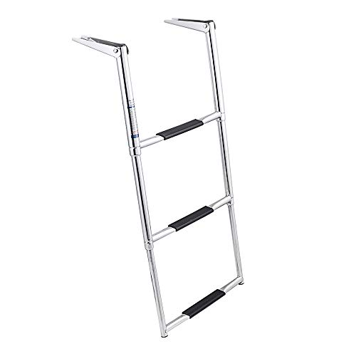 - White Water Wide Over Platform Telescoping Ladder (3-Step)