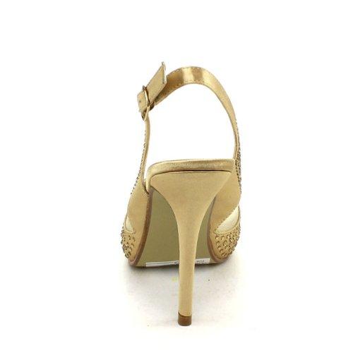 Bonnibel Tiara-4 Womens Sparkle Sling Back Avond Promo-jurk Pumps, Kleur: Champ, Maat: 8.5