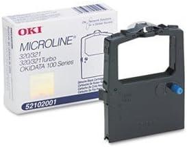 Okidata 52102001 Microline 320 321 Ribbon Cartridge (Black, 6-Pack)