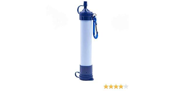 TOOGOO Filtro de Agua portátil para Campamento, Tubo de succión para Exteriores, purificador de Agua Silvestre ...