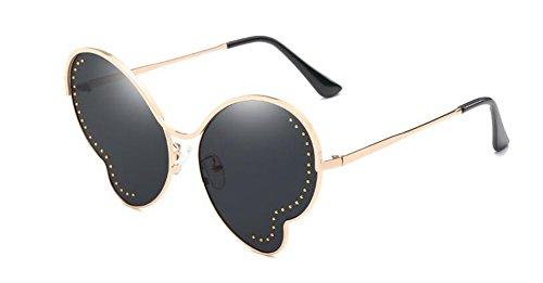 lunettes en polarisées vintage de Feuille B cercle du Lennon retro style rond métallique soleil inspirées Grise Complète z0Tr0S