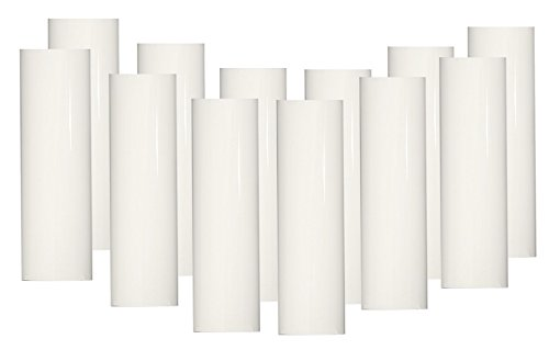 Lighthouse Industries Set of 12 pc 2 Inch Tall White Candelabra Base Thin 3/4